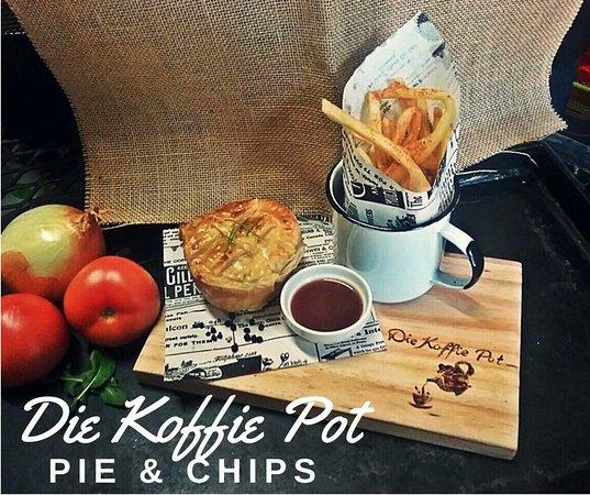 Louis Trichardt, Zuid-Afrika: Homemade pie & chips