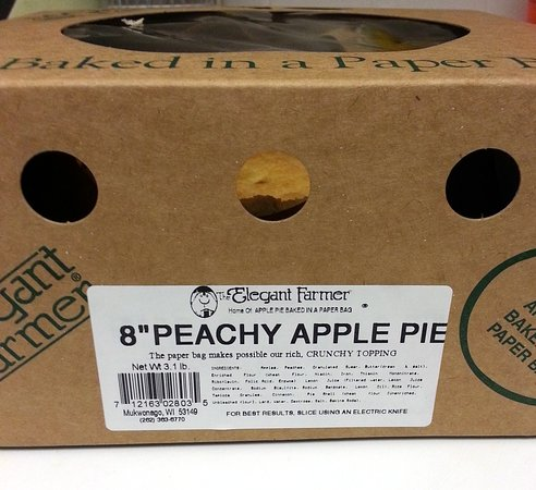 Mukwonago, WI: 8 inch peachy apple pie