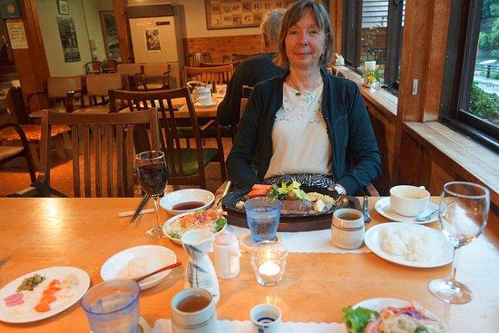 Pension Ashitanomori: Dinner time