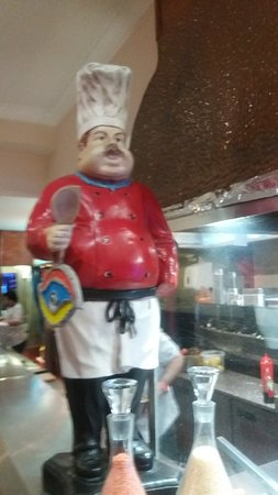 Open Kitchen And Chef Statue Inside Nazar In Hastings