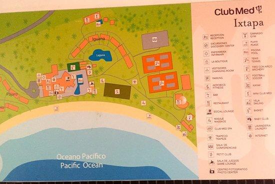 Map Of Resort Picture Of Club Med Ixtapa Pacific Ixtapa Tripadvisor