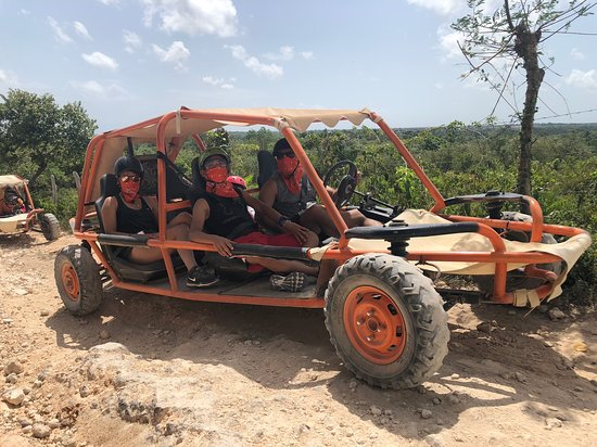 Family Buggy Adventure in Punta Cana: Riding to the cave