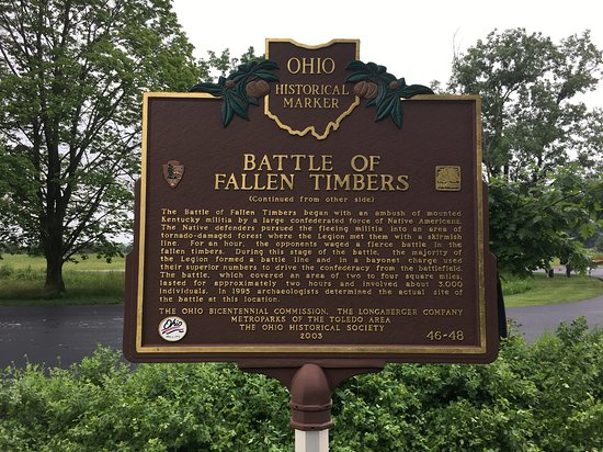 Historic Marker - Picture of Fallen Timbers Battlefield
