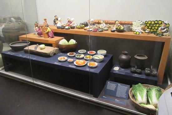 The National Folk Museum of Korea: Display on kimchi.