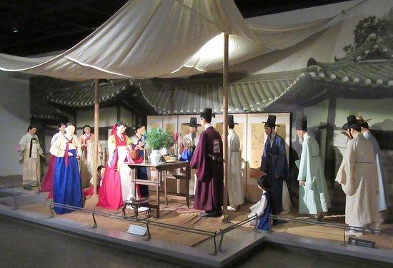The National Folk Museum of Korea: Display of a Korean wedding.