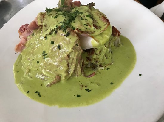 """Green Eggs and Ham"" at Boon Fly Cafe in Napa."
