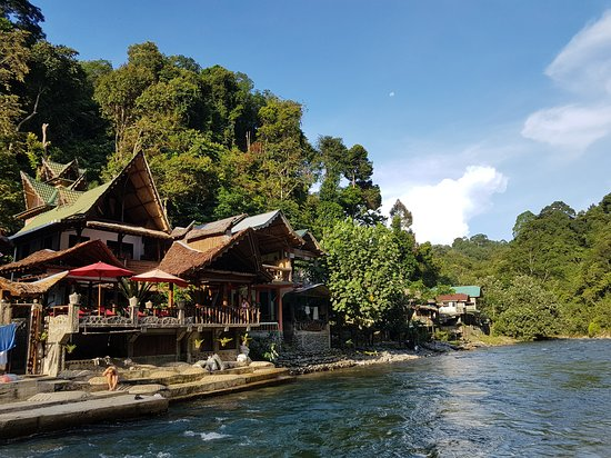 EcoTravel Cottages Bukit Lawang: Hotel at the river