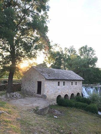 Ljubuski, Bosnia and Herzegovina: Reconstructed water mill next to ceveljusa falls