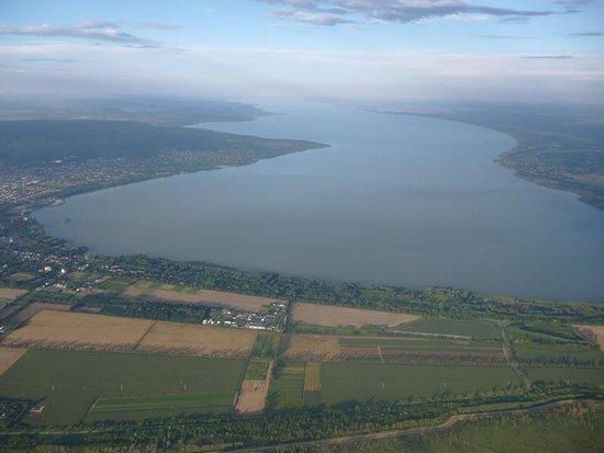 Cserszegtomaj, Hongarije: Balaton a magasból
