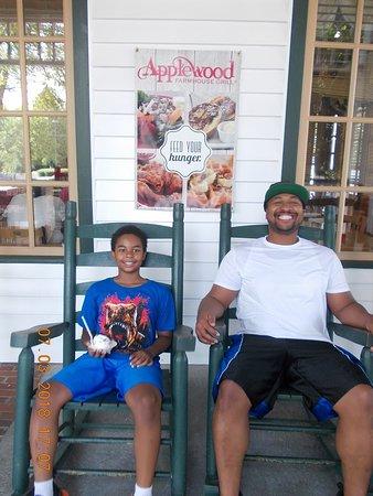 Applewood Farmhouse Grill: My son at Applewood Farmhouse