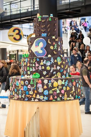Tremendous 3 Years One Salonica Huge Chocolate Birthday Cake Picture Of Funny Birthday Cards Online Alyptdamsfinfo
