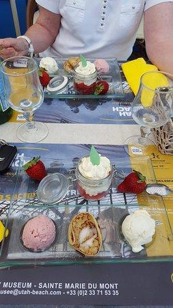 Creperie Montoise: Le dessert du menu du jour.