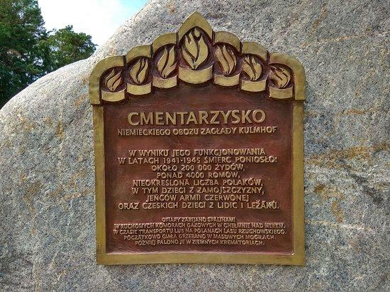 Chelmno, Polen: Tablic pamiątkowa
