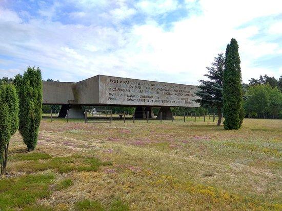 Chelmno, Poland: Pomnik z tyłu