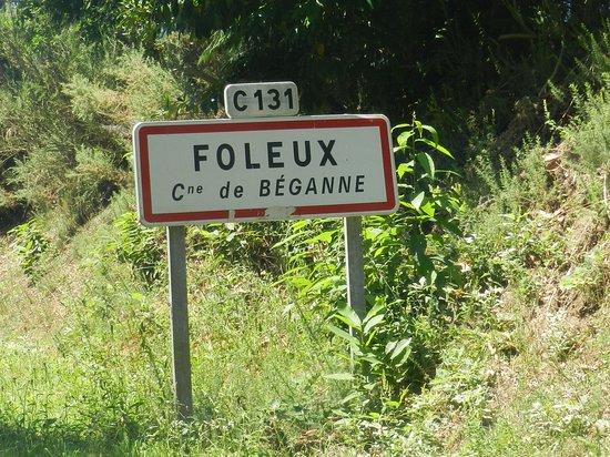 Beganne, France: la pancarte