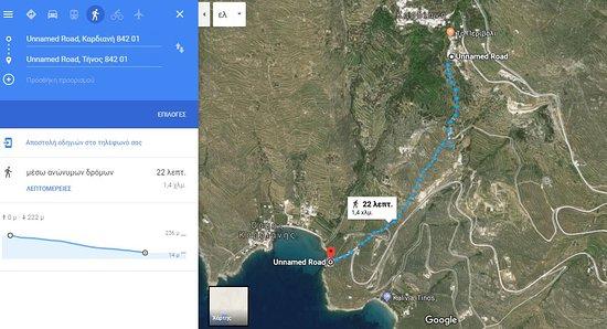 Kardiani, اليونان: Το μονοπάτι για τη θάλασσα σε μόλις 22'.  Follow the trail to the beach in just 22min
