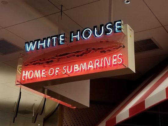 White House Sub Shop: sign
