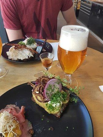 Hallernes: Mikkeller Beer and Potato smørrebrød