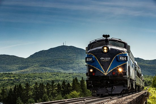 Magog, Canada: train touristique Orford Express