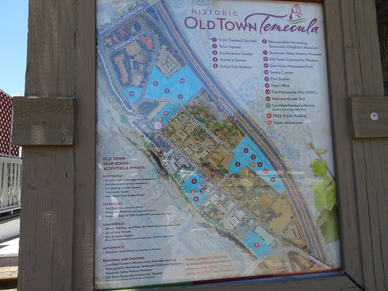 Old Town Temecula: The map is helpful