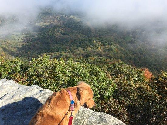 Catawba, VA: looking down the valley