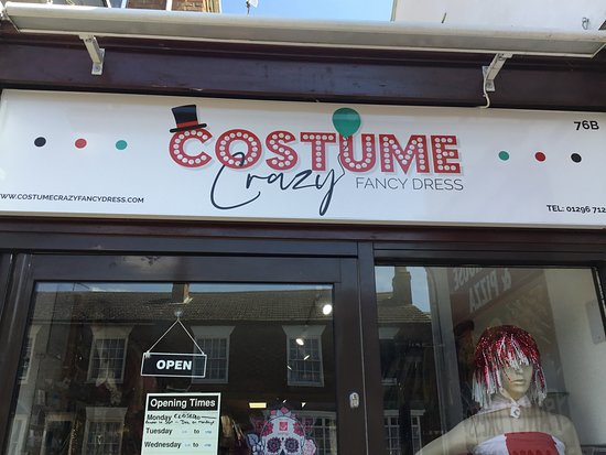 Winslow, UK: Shop renaming from Divine Diva to Costume Crazy Fancy Dress