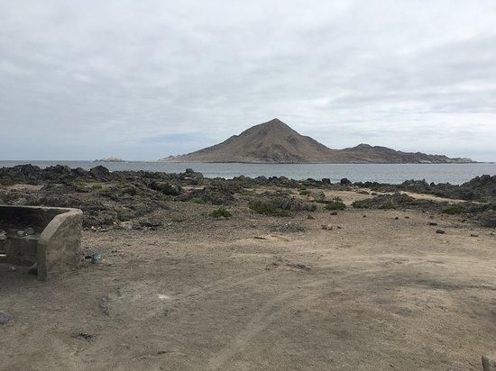 Chanaral, Chile: Vista a Isla pan de azúcar desde sitio de camping