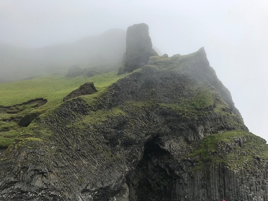 BusTravel Iceland: Third stop & post lunch, black sand beach and rock formations.