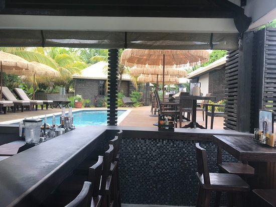 PUR Boutique Cabanas : View from the Bar to the rest of the property