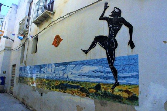 Province of Trapani, Itália: Wall mural - Kasbah, Mazzara del Vallo