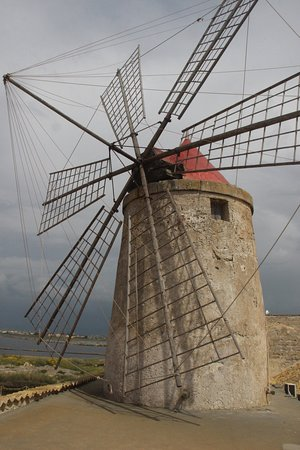 Province of Trapani, Italy: Windmill - Nubia, Trapani Salt Pans