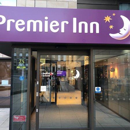 Premier Inn Edinburgh City Centre Royal Mile Exterior Of Hotel And Tram Station Across From