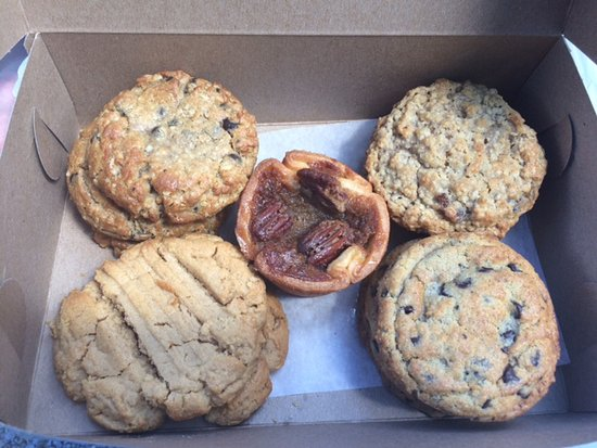 Bobcaygeon Bakery: left are the P Boats to the right are the oatmeal raisin then bottom left is the peanut butter