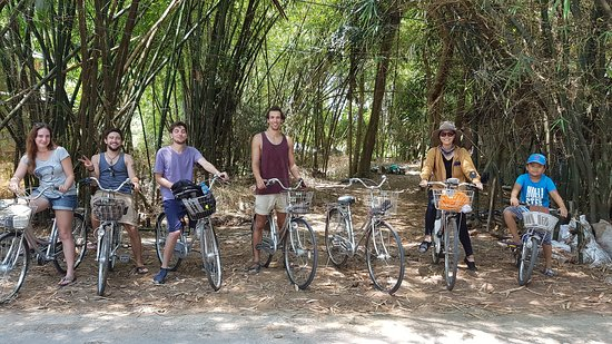 Long Xuyen, Vietnam: We ride bicycles through the countryside