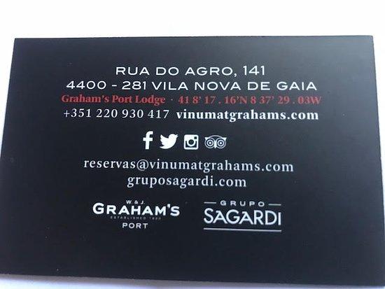 VINUM Restaurant Wine Bar Carte De Visite