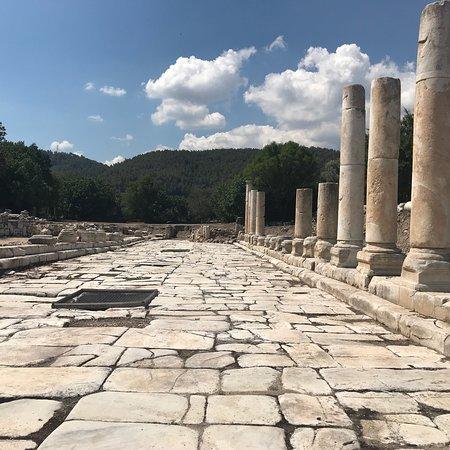 Yatagan, Τουρκία: Yatağan Yakınında bulunan Stratonikeia Antik kenti kuzey kapısı ve ana cadde Fotoğrafları