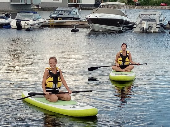Kuopio Water Sports Centre: Relaxing for the photo