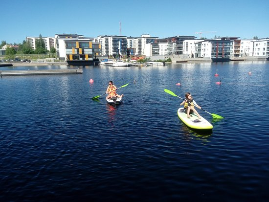 Kuopio Water Sports Centre: Sitting down is a little easier