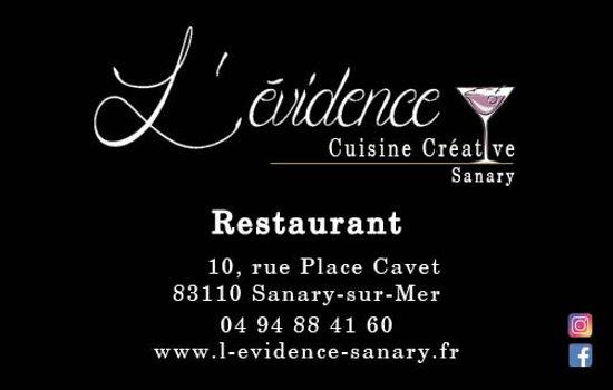 Carte De Visite Picture Of Levidence Sanary Sur Mer