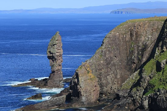 Caithness and Sutherland, UK: See the Old Man of Stoer from the sea, often with climbers trying to scale it to the top.