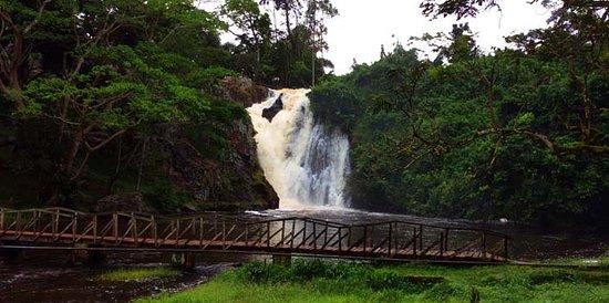 frontal view of sezibwa falls found in mukono,
