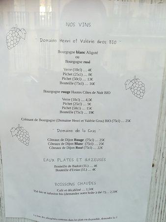 Carte Bourgogne Blanc.Carte Picture Of La Crepitante Dijon Tripadvisor