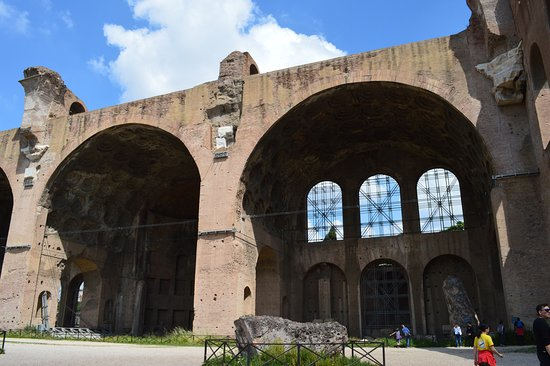Basilica of Maxentius: The still standing north part of the building