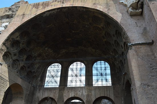 Basilica of Maxentius: A close up of the vault