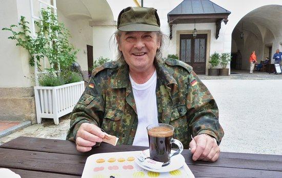 Rozmberk nad Vltavou, Republik Ceko: Občerstvení,perfektní kafíčko.