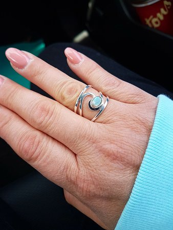 "Mirabella by Elizabeth Burry Studios: I love my new ring, ""Newfoundland Wave"". Beautiful handcrafted delights here!!"