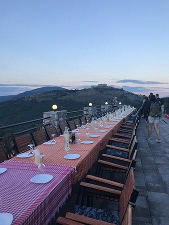 Novo Brdo, Kosovo: tables outside