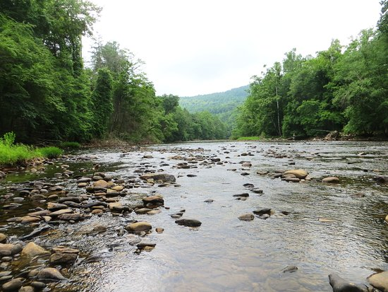 Elkins, WV: River for fishing, tubing, and wading