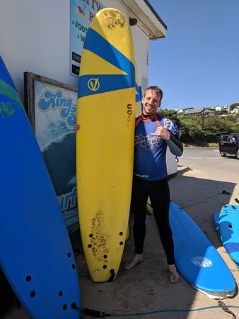 Kingsurf Surf School: After my last lesson.