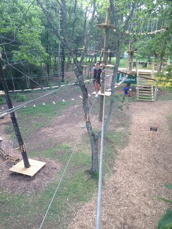 Walking A High Wire At The Adventure Park At Nashville Picture Of The Adventure Park At Nashville Tripadvisor